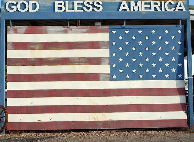 """God Bless America"" - Boulder City, NV USA, Antique Store | via Flickr user g Tarded"